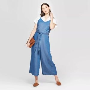 Universal Thread Culotte Wide Leg Denim Jumpsuit